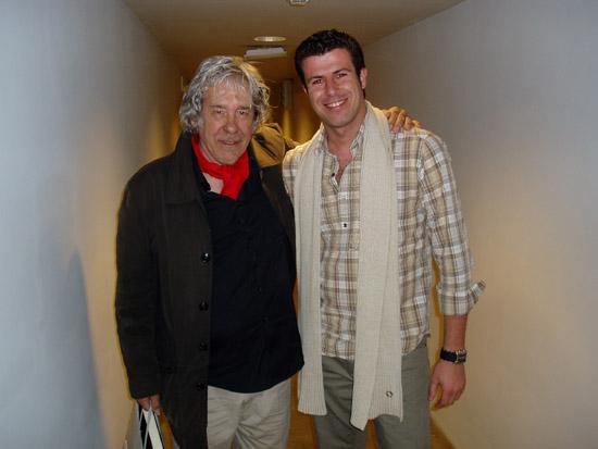 Manu Guerrero con Paco Ibáñez